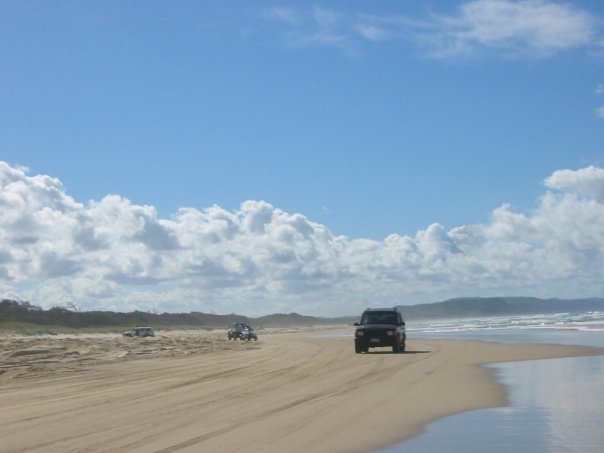 "DIFFERENT RULES. Navigating the ""road"" in Fraser Island in Australia, May 2007"