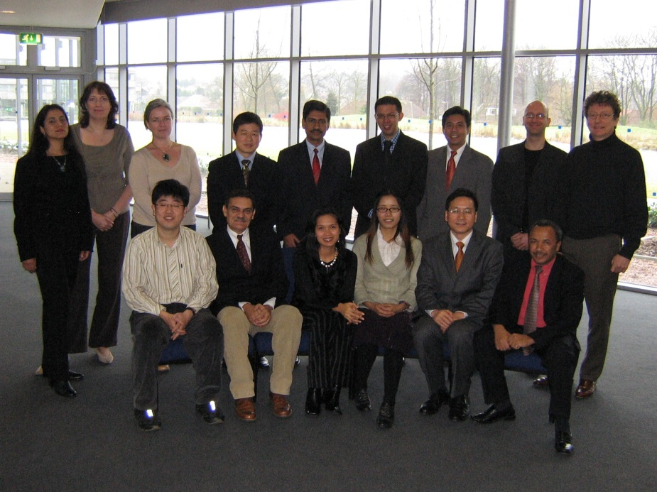 The 2006 Chevening Fellows with the staff of the uni's ICCSR (International Center for Corporate Social Responsibility).