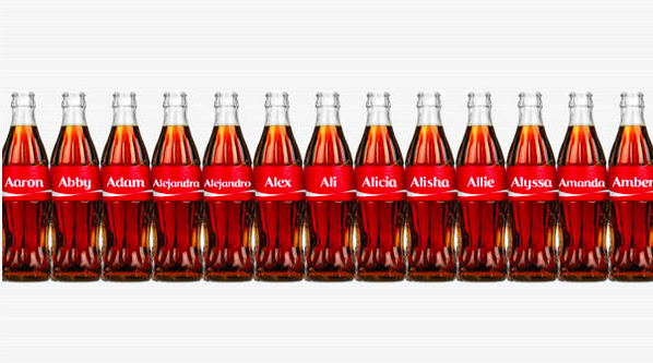 'Nickname Bottle' campaign of Coca-Cola