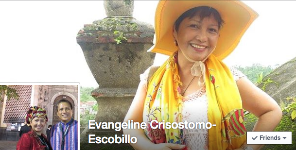 Screenshot of the Facebook cover of Evangeline Escobillo, former regulator, risk manager, insurance reformer, tough love advocate, life of the party
